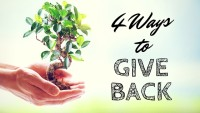 4 Ways to Give Back